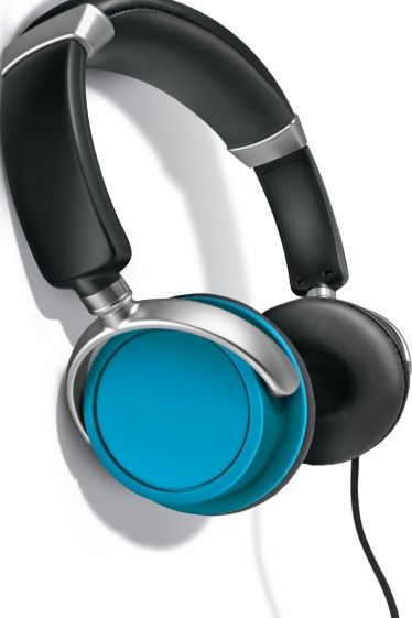 Auvio 3301605 Color Headphones with Mic - BLUE
