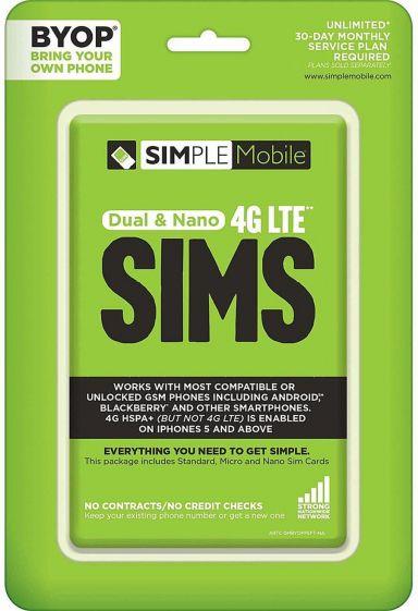 TracFone Simple Mobile GSM Sim Bundle N Airtime