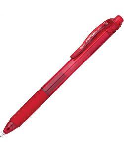 Pentel EnerGel-X Retractable Liquid Gel Pen (0.5mm) Metal Tip, Red Ink - Quantity: 12