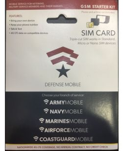 Defense Mobile GSM Starter Kit SIM Card
