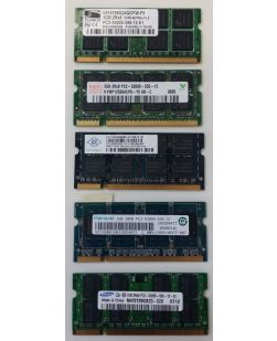 Assorted Major Brand 1GB SODIMM DDR2 PC2-5300 Laptop Memory
