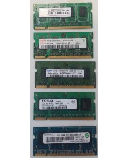 Assorted Major Brand 1GB SODIMM DDR2 PC2-6400 Laptop Memory