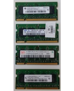 Assorted Major Brand 512MB SODIMM DDR2 PC2-4200 Laptop Memory
