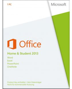 Microsoft Office Home and Student 2013 Key Card for 1 PC