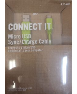 RadioShack 4 Foot Micro USB Sync/Charge Cable - Lime Green