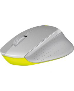 Logitech M330 Silent Plus Wireless Large Mouse Silver/Yellow - NO RECEIVER