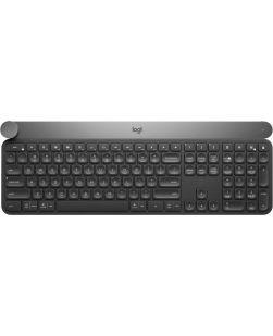 Logitech Craft Advanced Wireless Keyboard with Creative Input Dial and Backlit Keys - Dark Grey Aluminum