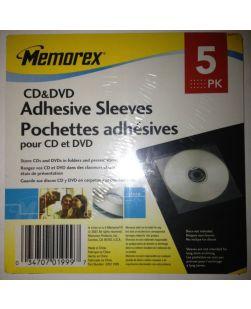 Memorex CD Adhesive Sleeves 5-pack of 6 each