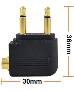 Monster Gold Plated Airplane Headphone Audio Converter