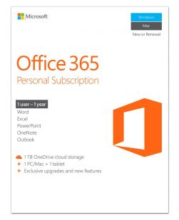 Microsoft Office 365 Personal 1 Year Subscription for 1 Device