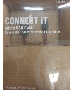 RadioShack 2604495 Braided Flat 4 Foot Micro USB Cable