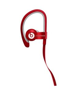 Beats Powerbeats 2 WIRED RED In Ear Headphones Beats By Dr. Dre - DEFECTIVE