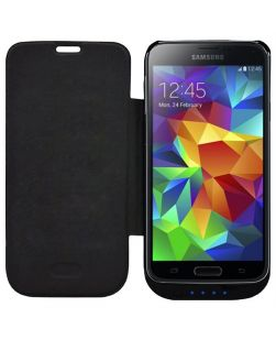 SKIVA PowerSkin 3700mAh Battery Case for the Samsung Galaxy S5 - BLACK