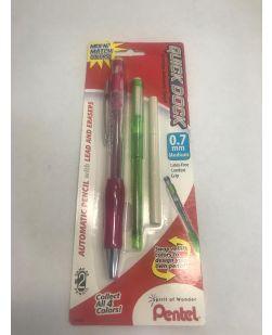 Pentel Quick Dock Colors 0.7mm Medium Pink Barrel, Green Dock - Quantity: 2