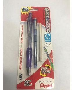 Pentel Quick Dock Colors 0.7mm Medium Purple Barrel, Blue Dock Dock - Quantity: 2