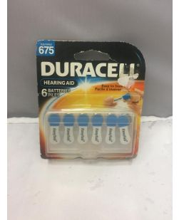 Duracell Hearing Aid Batteries Size 675 6 Pack DA675B6W EXP:2012