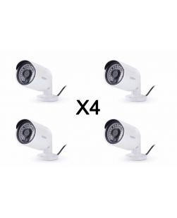 4X Uniden UDVRC66 BNC Bullet Surveillance Cameras